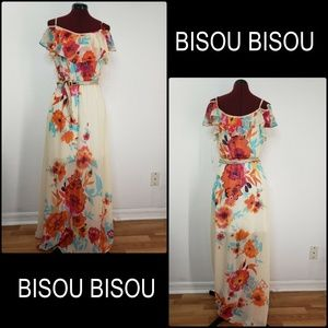 Bisou Bisou Woman Off Shoulder Floral Long Dress 8